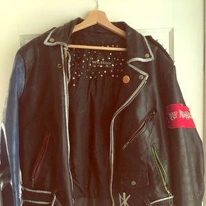 Vintage punk leather jacket